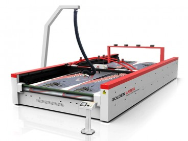 Wide Format Laser Cutter for Big Flags, Banners, Soft Signage